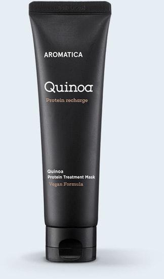 Органическая маска для сухих и поврежденных волос Quinoa Protein Treatment Mask Aromatica (фото)