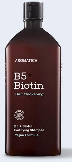 Бессульфатный укрепляющий шампунь с биотином B5 + Biotin Fortifying Shampoo Aromatica (фото)
