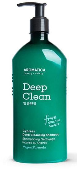Бессульфатный шампунь для глубокого очищения с кипарисом Cypress Deep Cleansing Shampoo Aromatica (фото)