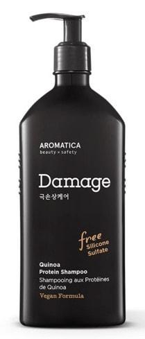 Протеиновый шампунь с киноа для поврежденных волос Quinoa Protein Shampoo Aromatica