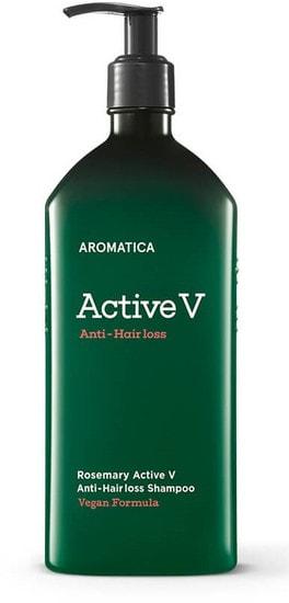 Шампунь против выпадения волос Rosemary Active V Anti-Hair Loss Shampoo Aromatica (фото, Шампунь против выпадения волос Rosemary Active V Anti-Hair Loss Shampoo Aromatica)