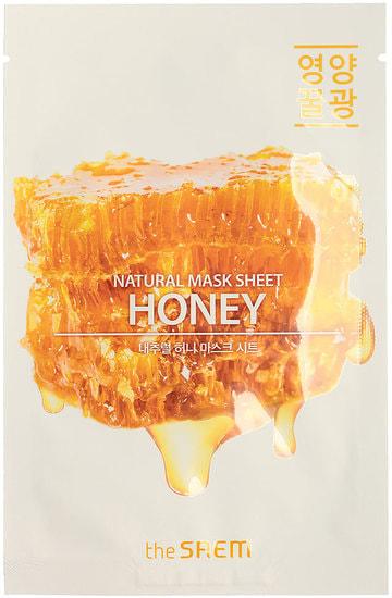 Тканевая маска с экстрактом меда Natural Honey Mask Sheet The Saem