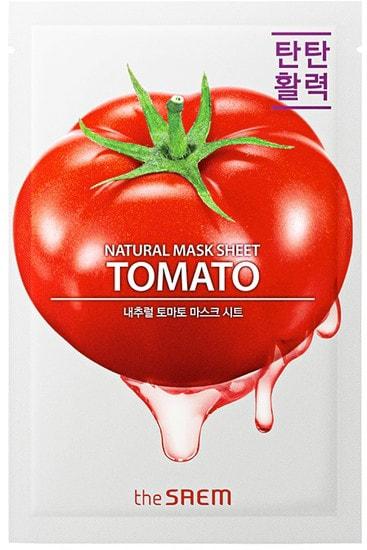 Тканевая маска для лица с экстрактом томата Natural Tomato Mask Sheet The Saem