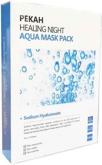 Вечерняя восстанавливающая увлажняющая маска Healing Night Aqua Mask Pack Pekah (фото)