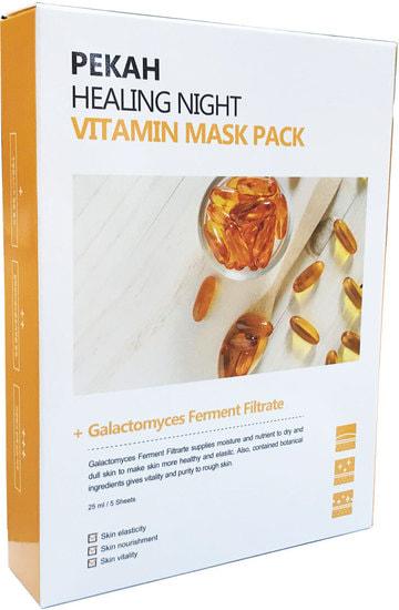 Вечерняя восстанавливающая витаминная маска Healing night vitamin mask pack Pekah (фото)