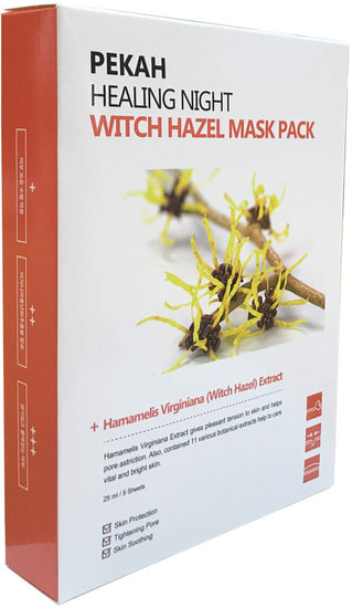 Вечерняя восстанавливающая маска с экстрактом гамамелиса Healing Night Witch Hazel Mask Pack Pekah (фото, Вечерняя восстанавливающая маска с экстрактом гамамелиса Pekah)