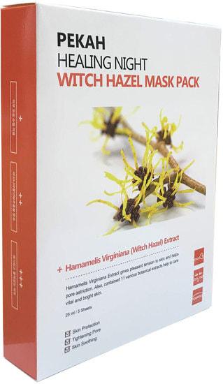 Вечерняя восстанавливающая маска с экстрактом гамамелиса Healing Night Witch Hazel Mask Pack Pekah (фото, Вечерняя восстанавливающая маска с экстрактом гамамелиса Pekah)