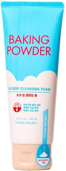 Глубоко очищающая пенка с содой для снятия макияжа и ВВ крема Baking Powder BB Deep Cleansing Foam Etude House