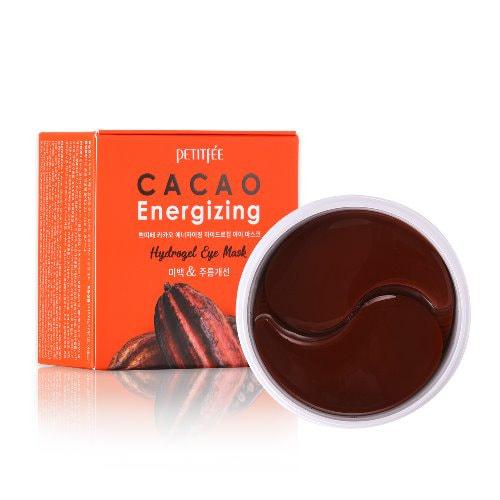 Тонизирующие гидрогелевые патчи для области вокруг глаз с экстрактом какао Cacao Energizing Hydrogel Eye Mask Petitfee (фото, патчи PETITFEE Cacao Energizing Hydrogel Eye Mask)