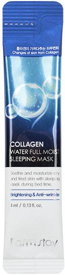 Увлажняющая ночная маска в саше с коллагеном Collagen Water Full Moist Sleeping Mask FarmStay (фото, Увлажняющая ночная маска в саше с коллагеном FarmStay Collagen Water Full Moist Sleeping Mask)