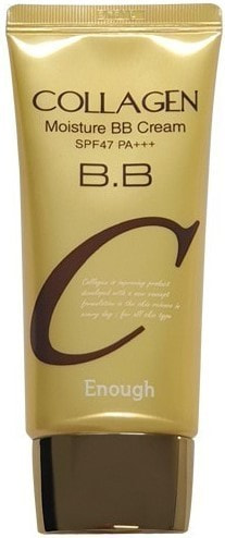 Увлажняющий BB крем с коллагеном Collagen Moisture BB Cream SPF47 Enough (фото, Увлажняющий BB крем с коллагеном Enough)