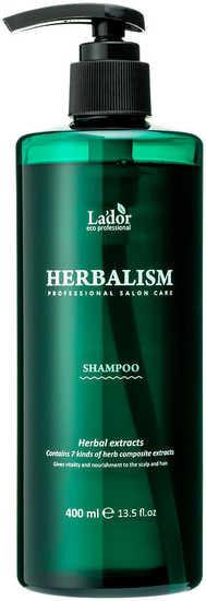Слабокислотный шампунь против выпадения волос гербализм Herbalism Shampoo Lador (фото, Слабокислотный шампунь против выпадения волос гербализм Lador Herbalism Shampoo)