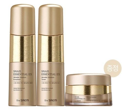 Набор уходовый антивозрастной Snail Essential EX Wrinkle Solution Skin Care 2 Set The Saem