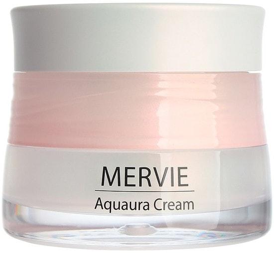 Увлажняющий крем для лица Mervie Aquaura Cream The Saem (фото, Экстра увлажняющий крем для лица The Saem Mervie Aquaura Cream)