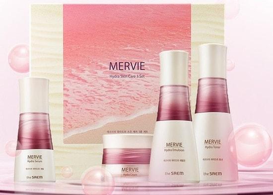 Набор для глубокого увлажнения кожи с экстрактом красного планктона Mervie Hydra Skin Care 3 Set The Saem (фото, Набор косметики The Saem Mervie Hydra Skin Care 3 Set)
