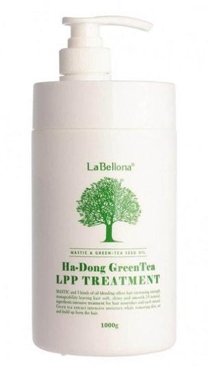 Восстанавливающая маска для волос с зелёным чаем Lombok Green Tea Mastic LPP Treatment Gain Cosmetics