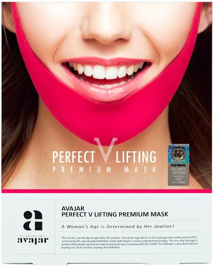 Подтягивающая маска для коррекции овала лица Avajar Perfect V Lifting Premium Mask (фото, Подтягивающая маска для коррекции овала лица)