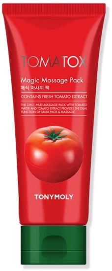 Осветляющая томатная массажная маска для лица Tony Moly Tomatox Magic Massage Pack