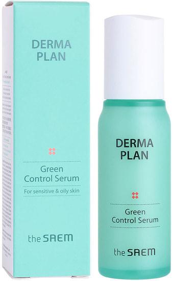 Сыворотка для чувствительной и проблемной кожи Derma Plan Green Control Serum The Saem
