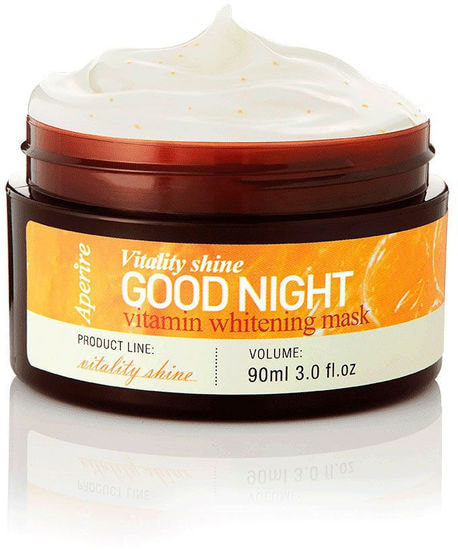 Ночная маска для лица с витаминами для ровного тона кожи VITALITY SHINE Aperire (фото, Ночная маска для лица с витаминами для ровного тона кожи APERIRE)