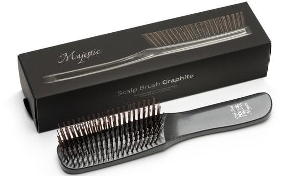 Расческа Majestic Graphite универсальная для всех типов волос (фото, Расческа Majestic Graphite)