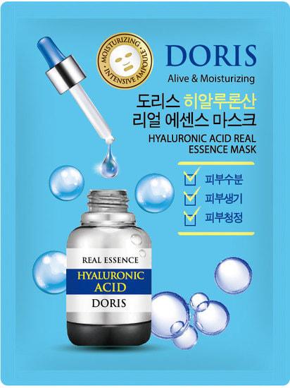 Тканевая маска для лица с гиалуроновой кислотой Hyaluronic Acid Real Essence Mask Doris