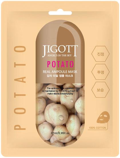 Ампульная маска для лица с экстрактом картофеля Potato Real Ampoule Mask Jigott