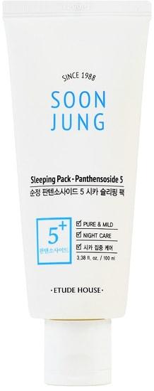 Ночная маска для ухода за чувствительной кожей лица Soon Jung Sleeping Pack Panthensoside Etude