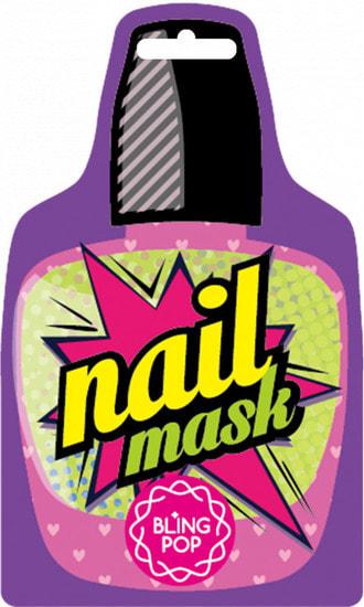 Маска для ногтей с маслом Ши Shea Butter Healing Nail Pack Bling Pop (фото, Маска для ногтей с маслом Ши Bling Pop)