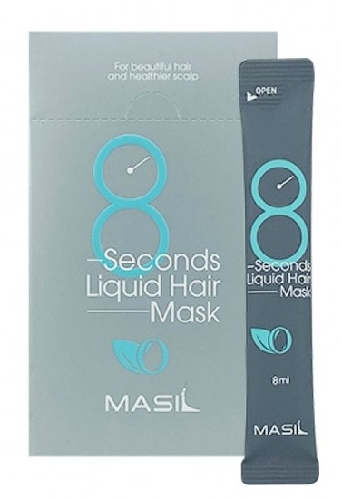Восстанавливающая экспресс маска для объема волос в саше 8 Seconds Liquid Hair Mask Masil (фото, маска для объема волос в саше Masil)