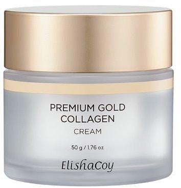 Антивозрастной крем для лица с коллагеном и золотом Premium Gold Collagen Cream Elishacoy (фото, премиум крем для лица с коллагеном ElishaCoy Premium Gold Collagen Cream)