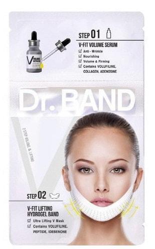 2-х ступенчатая маска для подтяжки контура лица Dr Band Hydrogel Collagen Ultra Lifting Mask Anti Wrinkle V Line (фото, 2-х ступенчатая маска для подтяжки контура лица)