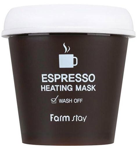 Согревающая маска для лица с экстрактом кофе Espresso Heating Mask FarmStay (фото, Согревающая маска для лица с экстрактом кофе FarmStay)