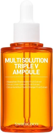 Сыворотка с активным мульти витаминным комплексом Multi Solution Triple V Ampoule Swanicoco