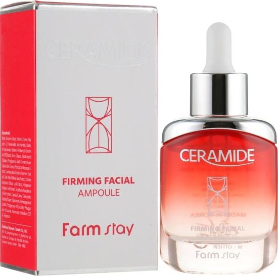 Укрепляющая ампульная сыворотка с керамидами Ceramide Firming Facial Ampoule FarmStay (фото, ампульная сыворотка с керамидами FarmStay)
