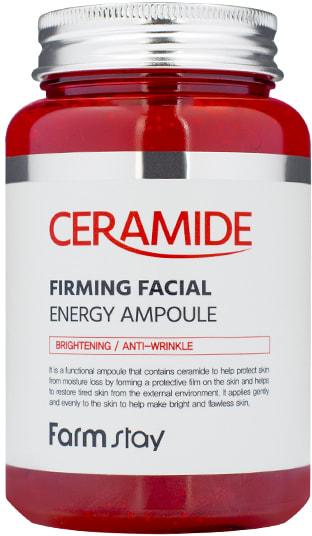 Многофункциональная ампульная сыворотка с керамидами Ceramide Firming Facial Energy Ampoule FarmStay (фото, Многофункциональная сыворотка с керамидами FarmStay)
