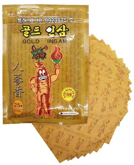 Противовоспалительный пластырь с женьшенем Korean Gold Insam (фото, Противовоспалительный пластырь с женьшенем Korean Gold Insam)