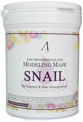 Альгинатная маска с муцином улитки Snail Modeling Mask ANSKIN (фото, Альгинатная маска с муцином улитки)