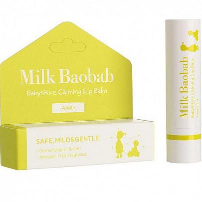 Детский бальзам для губ Baby and Kids Calming Lip Balm Milk Baobab (фото, Детский бальзам для губ Milk Baobab Baby and Kids Calming Lip Balm)