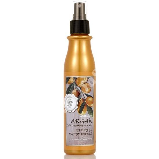 Cпрей для волос с аргановым маслом и золотом Welcos