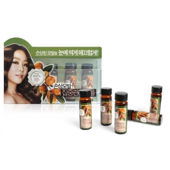 Набор ампул для восстановления сухих и поврежденных волос с аргановым маслом Confume Argan Treatment Hair Ampoule Welcos (фото, Welcos Confume Argan Treatment Hair Ampoule)