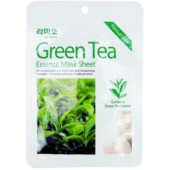 Тканевая маска для лица с экстрактом зеленого чая La Miso (Корея)