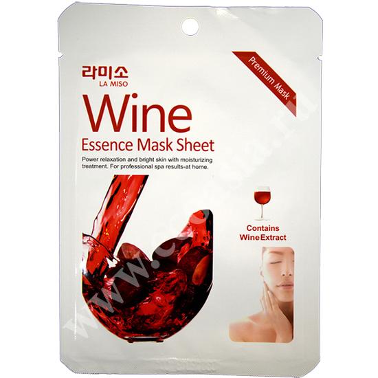 Антивозрастная тканевая маска для лица с экстрактом красного вина La Miso