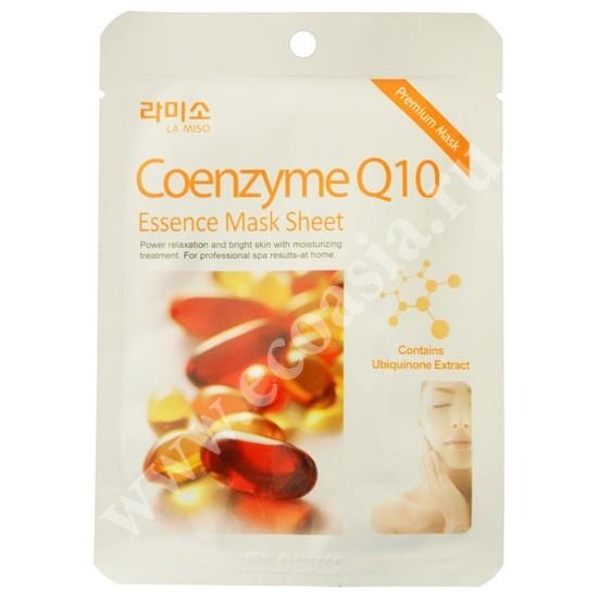 Тканевая маска для лица с коэнзимом Q10 La Miso (Корея)