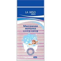 Корейская массажная мочалка жесткая La Miso