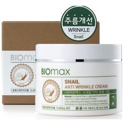 Антивозрастной крем с экстрактом слизи улитки против морщин BIOmax (Корея)
