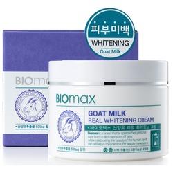 Отбеливающий крем с экстрактом козьего молока BIOmax (Корея)