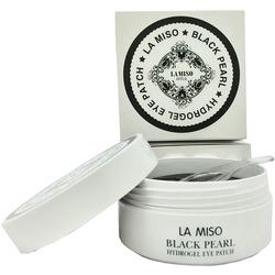 Гидрогелевые патчи для кожи вокруг глаз с черным жемчугом La Miso