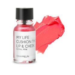 Тинт для губ и щек цвета coral pink Graymelin