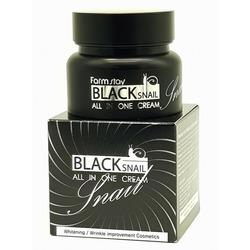Восстанавливающий крем для лица с муцином черной улитки Black Snail All In One Cream FarmStay